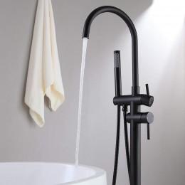 Kraan vrijstaand bad zwart