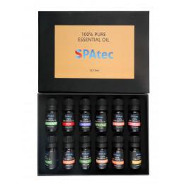Aromatherapie: set met 12 aromas (Spatec baden)